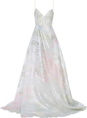 Ralph Lauren Alex Perry Lurex Organza Gown
