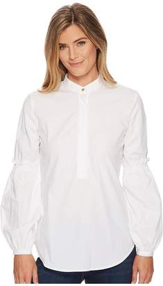 Lauren Ralph Lauren Broadcloth Bishop-Sleeve Shirt Women's T Shirt
