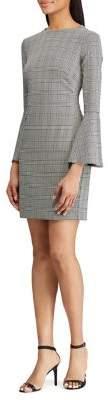 Lauren Ralph Lauren Glen Plaid Bell-Sleeve Sheath Dress