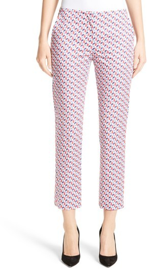 Women's Armani Collezioni Print Stretch Cotton Ankle Pants