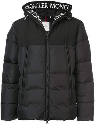 Moncler logo hooded down jacket