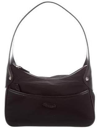 Tod's Leather-Trimmed Hobo