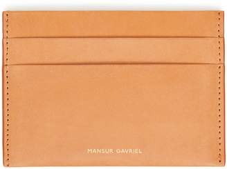 Mansur Gavriel Vegetable Tanned Credit Card Holder - Cammello