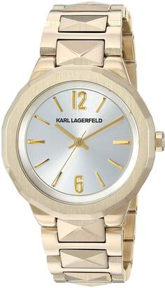 Karl Lagerfeld Women's 'Joleigh' Quartz Stainless Steel Casual Watch, Color Gold-Toned (Model: KL3403)