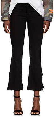 J Brand Women's Mid-Rise Crop Flare Jeans - Black