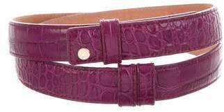 Jimmy Choo Embossed Leather Snap Front Belt