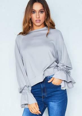 8e6e5ffc63b66d Missy Empire Grey Long Sleeve Tops For Women - ShopStyle UK