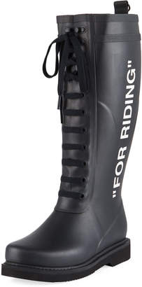Off-White Off White For Riding Quote Wellington Rain Boots