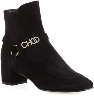 Jimmy Choo Mailin Suede 40mm Booties