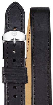 MICHELE Double Wrap Leather Watch Strap, 18mm $100 thestylecure.com