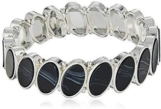 Nine West Women's Silver-Tone and Stretch Bracelet
