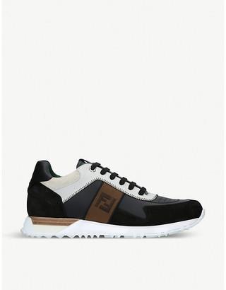 Fendi FF leather trainers