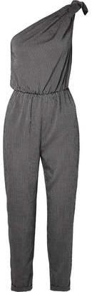 N.Y.L.A. Nanushka Bow-embellished Striped Voile Jumpsuit
