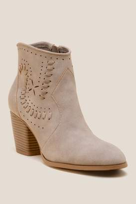 Restricted HighRise Ankle Boot - Taupe