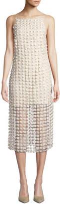 Elliatt Marilyn Pearly-Bead Illusion Dress