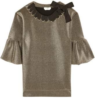 Fendi Metallic ribbon-woven top