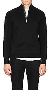 Ralph Lauren Purple Label MEN'S SLIM MIXED-KNIT WOOL SWEATER-BLACK SIZE S