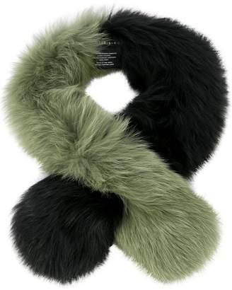 CHARLOTTE SIMONE fox fur scarf