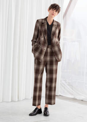 And other stories Tailored Plaid Pants