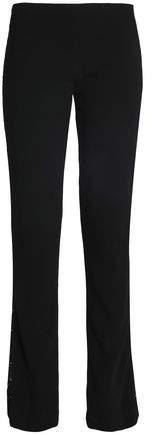 Galvan London Paneled Corded Lace And Crepe Straight-Leg Pants