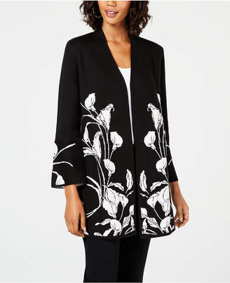 Alfani Lily Embroidered Cardigan Sweater, Created for Macy's