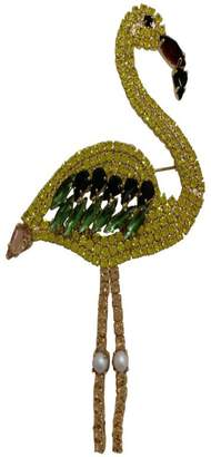 Lisa C. Flamingo Yellow Brooch