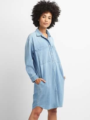 Gap Long Sleeve Pullover Denim Shirtdress