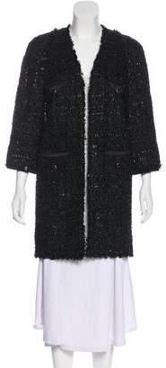 Chanel Metallic Tweed Coat