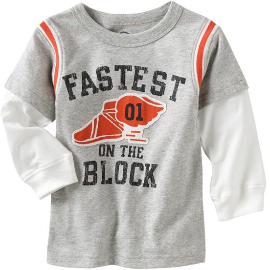 Carter's mock-layer sporty tee - baby