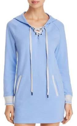 Psycho Bunny Lace-Up Hoodie Dress