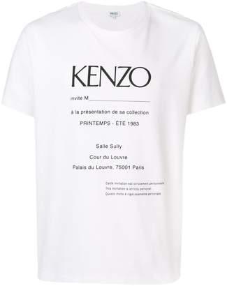 Kenzo invitation printed t-shirt