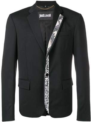 Just Cavalli contrast-trim fitted blazer