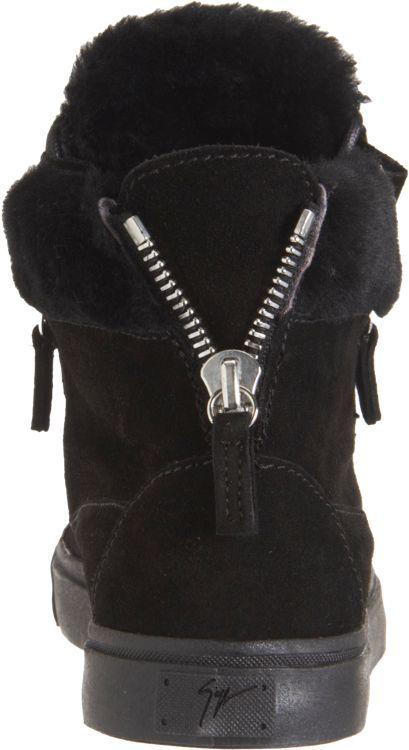 Giuseppe Zanotti Women's Shearling-Lined Zip High-Tops-Black