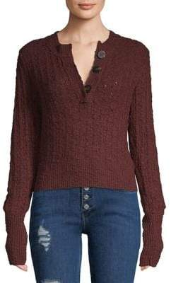 Free People Ribbed Textured Sweater
