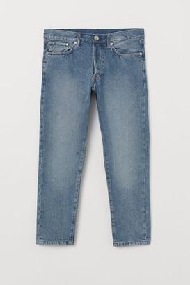H&M Slim Straight Cropped Jeans