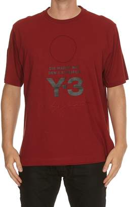 Y-3 Y 3 Stacked Logo T-shirt