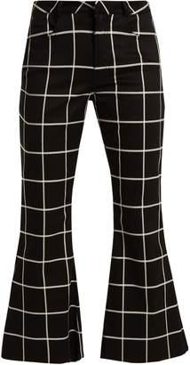 Marques Almeida MARQUES'ALMEIDA Checked slim-leg cotton-blend trousers