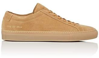 Common Projects Men's Achilles Suede Sneakers - Beige, Tan