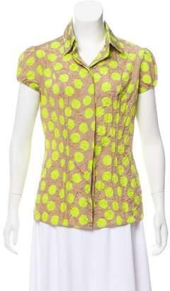 Blumarine Silk Button-Up Top