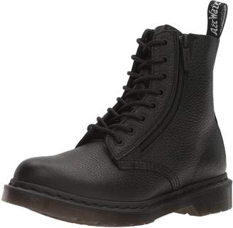Dr. Martens Women's Pascal W/Zip Combat Boot Black 3 UK/5 M US