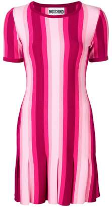 Moschino striped short-sleeved dress