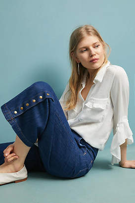 Pilcro and the Letterpress Pilcro High-Rise Cropped Wide-Leg Jeans