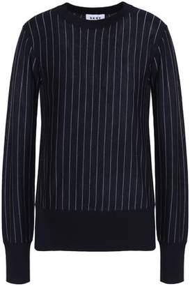 DKNY Pinstriped Merino-Wool Sweater
