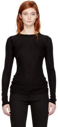Alexander Wang Black Merino Wool Sweater