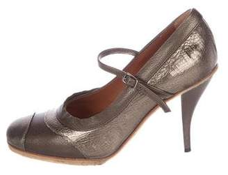 Lanvin Metallic Mary Jane Pumps