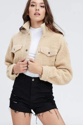 Timeless Cropped Sherpa Jacket
