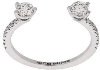 Delfina Delettrez 18kt white gold Dots Diamond Pave ring