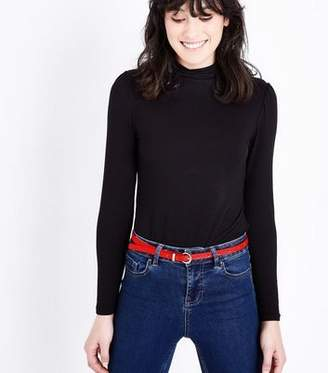 New Look Red Skinny Jeans Belt