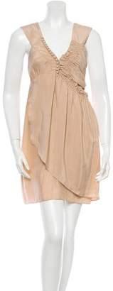 Sandro Silk Smocked Mini Dress $75 thestylecure.com