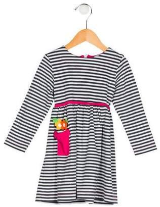 Florence Eiseman Girls' Striped Long Sleeve Dress